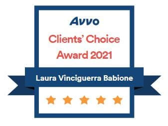 Avvo Clients Choice Award 2021 - Laura V. Babione