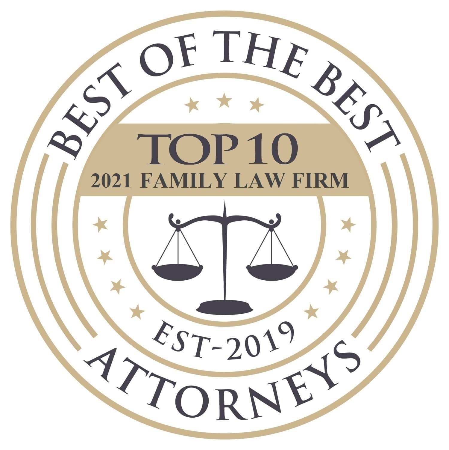 Best of the Best Attorneys - Top 10 2021 Family Law Firm